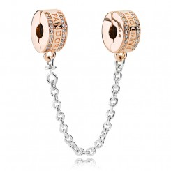 PANDORA Logo Safty Chain rose