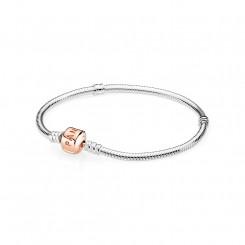 Moments Silver Bracelet, PANDORA Rose Clasp