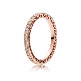 Hearts of PANDORA rose ring
