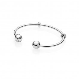 Moments Silver Open Bangle