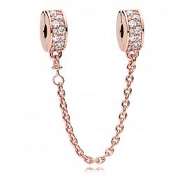 PANDORA Rose Shining Elegance Safety Chain
