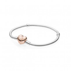 PANDORA Rose Moments Silver Bracelet Heart