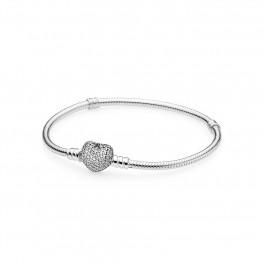 Moments Silver Bracelet pavé Heart