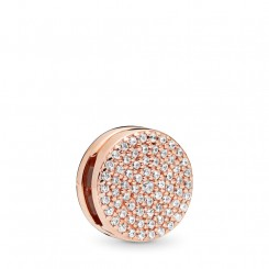 PANDORA Reflections Dazzling Elegance Rose Clip Charm