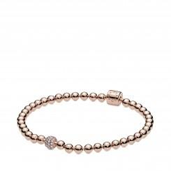 PANDORA Rose Beads & Pavé armbånd