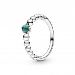 Regnskovsgrøn Kuglebesat Ring