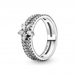 PANDORA Funklende Snefnug Dobbelt Ring