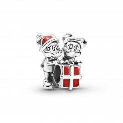 PANDORA Disney Mickey og Minnie med gave