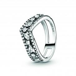 PANDORA Funklende Marquise Dobbelt Wishbone Ring