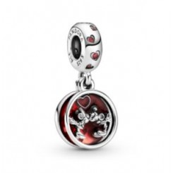 PANDORA Disney Mickey & Minnie Love and Kisses Charm med vedhæng