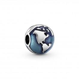 PANDORA Blå Globus Klemmeled