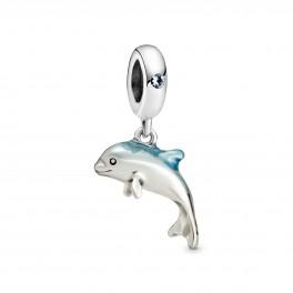 PANDORA Glitrende Delfin Charm med vedhæng