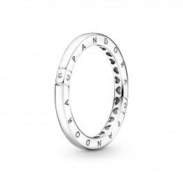 PANDORA Logo & Hjerter Ring