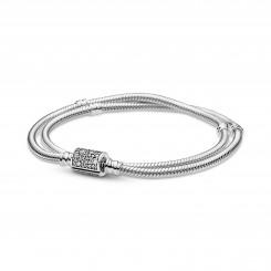 PANDORA Moments Dobbeltradet slangekædearmbånd med tøndelås
