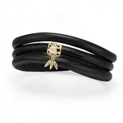 Christina Jewelry & Watches - Støt Brysterne Kampagne Armbånd - Med Forgyldt Charm